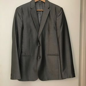 Calvin Klein Men's Extreme Slim Fit Gray Blazer